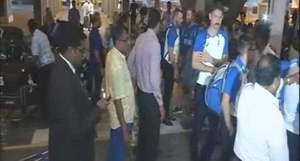 201709090410506158_Australian-cricket-team-arrives-for-five-match-ODI-series_SECVPF